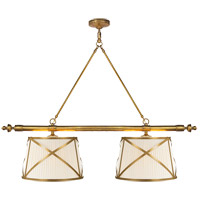 Visual Comfort CHC1481AB-L E. F. Chapman Grosvenor 4 Light 51 inch Antique-Burnished Brass Linear Pendant Ceiling Light