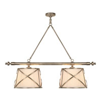Visual Comfort E.F. Chapman Grosvenor 4 Light Linear Pendant in Antique Nickel CHC1481AN-L