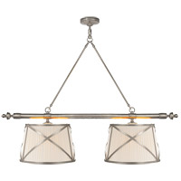 E. F. Chapman Grosvenor 4 Light 51 inch Antique Nickel Linear Pendant Ceiling Light