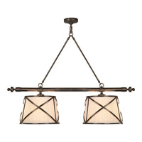 Visual Comfort E.F. Chapman Grosvenor 4 Light Linear Pendant in Bronze with Wax CHC1481BZ-L