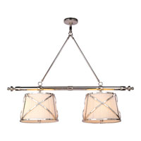 Visual Comfort E.F. Chapman Grosvenor 4 Light Linear Pendant in Polished Nickel CHC1481PN-L