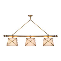 Visual Comfort E.F. Chapman Grosvenor 6 Light Linear Pendant in Antique-Burnished Brass CHC1482AB-L