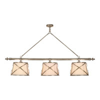 Visual Comfort E.F. Chapman Grosvenor 6 Light Linear Pendant in Antique Nickel CHC1482AN-L