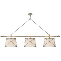 E. F. Chapman Grosvenor 6 Light 75 inch Antique Nickel Linear Pendant Ceiling Light