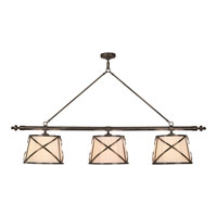 Visual Comfort E.F. Chapman Grosvenor 6 Light Linear Pendant in Bronze with Wax CHC1482BZ-L