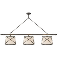 E. F. Chapman Grosvenor 6 Light 75 inch Bronze Linear Pendant Ceiling Light