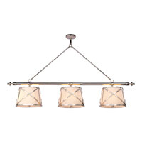 Visual Comfort E.F. Chapman Grosvenor 6 Light Linear Pendant in Polished Nickel CHC1482PN-L