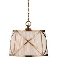 E.F. Chapman Grosvenor 3 Light 24 inch Antique-Burnished Brass Hanging Shade Ceiling Light in Antique Burnished Brass