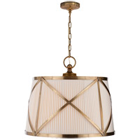 Visual Comfort CHC1483AB-L E. F. Chapman Grosvenor 3 Light 24 inch Antique-Burnished Brass Hanging Shade Ceiling Light