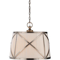 Visual Comfort CHC1483AN-L E. F. Chapman Grosvenor 3 Light 24 inch Antique Nickel Hanging Shade Ceiling Light