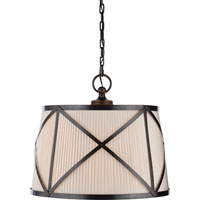 Visual Comfort E.F. Chapman Grosvenor 3 Light Hanging Shade in Bronze with Wax CHC1483BZ-L