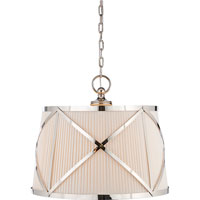 Visual Comfort E.F. Chapman Grosvenor 3 Light Hanging Shade in Polished Nickel CHC1483PN-L