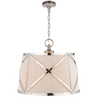 Visual Comfort CHC1483PN-L E. F. Chapman Grosvenor 3 Light 24 inch Polished Nickel Hanging Shade Ceiling Light photo thumbnail