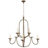 Visual Comfort CHC1494GI E. F. Chapman Flemish 8 Light 36 inch Gilded Iron Chandelier Ceiling Light
