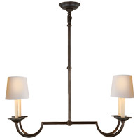 E. F. Chapman Flemish 4 Light 32 inch Aged Iron Linear Pendant Ceiling Light