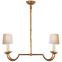 Visual Comfort CHC1497GI-NP E. F. Chapman Flemish 4 Light 32 inch Gilded Iron Linear Pendant Ceiling Light