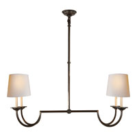 Visual Comfort E.F. Chapman Flemish 4 Light Linear Pendant in Aged Iron with Wax CHC1498AI-NP
