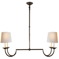 E. F. Chapman Flemish 4 Light 41 inch Aged Iron Linear Pendant Ceiling Light