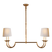 Visual Comfort E.F. Chapman Flemish 4 Light Linear Pendant in Gilded Iron with Wax CHC1498GI-NP