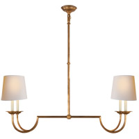 E. F. Chapman Flemish 4 Light 41 inch Gilded Iron Linear Pendant Ceiling Light