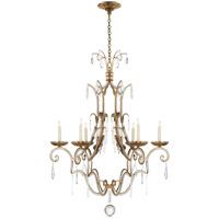 Visual Comfort E.F. Chapman Middleton 6 Light Chandelier in Gilded Iron with Wax CHC1501GI