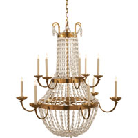 Visual Comfort E.F. Chapman Paris Flea Market 12 Light Chandelier in Antique-Burnished Brass CHC1508AB-SG