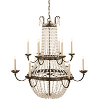 Visual Comfort CHC1508SHS-SG E. F. Chapman Paris Flea Market 12 Light 40 inch Sheffield Silver Chandelier Ceiling Light