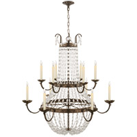 Visual Comfort CHC1508SHS-SG E F Chapman Paris Flea Market 12 Light 40 inch Sheffield Silver Chandelier Ceiling Light