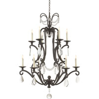 Visual Comfort E.F. Chapman Orvieto 12 Light Chandelier in Aged Iron with Wax CHC1520AI-SG
