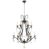 Visual Comfort CHC1520AI-SG E. F. Chapman Orvieto 12 Light 34 inch Aged Iron Chandelier Ceiling Light