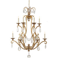 Visual Comfort E.F. Chapman Orvieto 12 Light Chandelier in Gilded Iron with Wax CHC1520GI-SG