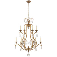 Visual Comfort CHC1520GI-SG E. F. Chapman Orvieto 12 Light 34 inch Gilded Iron Chandelier Ceiling Light