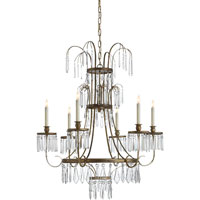 Visual Comfort E.F. Chapman Alexandra 6 Light Chandelier in Gilded Iron with Wax CHC1523GI-CG