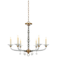 Visual Comfort CHC1525AB E. F. Chapman Stacked Ball 6 Light 31 inch Antique-Burnished Brass Chandelier Ceiling Light in Antique Burnished Brass