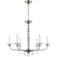 Visual Comfort CHC1525PN E. F. Chapman Stacked Ball 6 Light 31 inch Polished Nickel Chandelier Ceiling Light