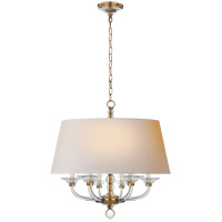 E. F. Chapman Stacked Ball 6 Light 31 inch Antique-Burnished Brass Hanging Shade Ceiling Light