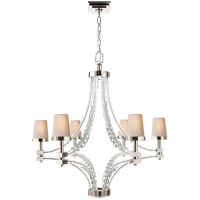 Visual Comfort CHC1530PN-NP E. F. Chapman Crystal Cube 6 Light 35 inch Polished Nickel Chandelier Ceiling Light