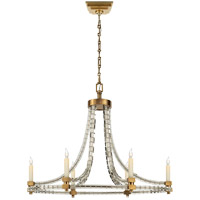 Visual Comfort CHC1536AB E. F. Chapman Crystal Cube 6 Light 20 inch Antique-Burnished Brass Chandelier Ceiling Light photo thumbnail