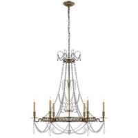 Visual Comfort CHC1547AB E. F. Chapman Belvoir 6 Light 35 inch Antique-Burnished Brass Chandelier Ceiling Light in Antique Burnished Brass
