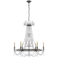 E. F. Chapman Belvoir 6 Light 35 inch Sheffield Nickel Chandelier Ceiling Light