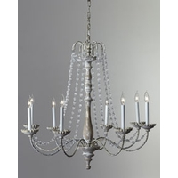 Visual Comfort E.F. Chapman Flanders 8 Light Chandelier in Belgian White  CHC1548BW-SG