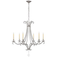 Visual Comfort CHC1550BSL-CG E. F. Chapman Oslo 6 Light 33 inch Burnished Silver Leaf Chandelier Ceiling Light
