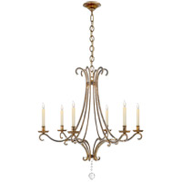 E. F. Chapman Oslo 6 Light 33 inch Gilded Iron Chandelier Ceiling Light