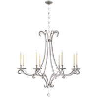Visual Comfort CHC1551BSL-CG E. F. Chapman Oslo 8 Light 43 inch Burnished Silver Leaf Chandelier Ceiling Light