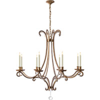 Visual Comfort E.F. Chapman Oslo 8 Light Chandelier in Gilded Iron with Wax CHC1551GI-CG