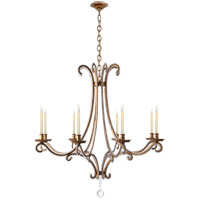 Visual Comfort CHC1551GI-CG E. F. Chapman Oslo 8 Light 43 inch Gilded Iron Chandelier Ceiling Light