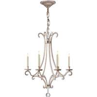 Visual Comfort E.F. Chapman Oslo 6 Light Chandelier in Burnished Silver Leaf CHC1552BSL-CG