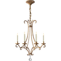 Visual Comfort E.F. Chapman Oslo 6 Light Chandelier in Gilded Iron with Wax CHC1552GI-CG