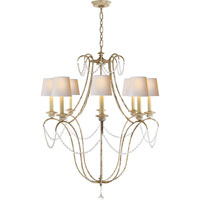 Visual Comfort E.F. Chapman Montmartre 8 Light Chandelier in Old White CHC1554OW-NP