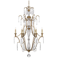 Visual Comfort E.F. Chapman Penhurst 6 Light Chandelier in Gilded Iron with Wax CHC1555GI-CG